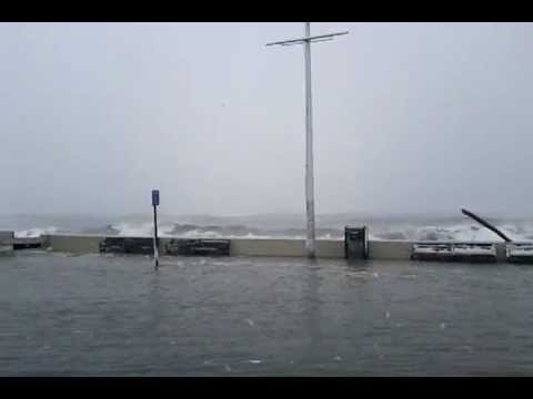 Flooding in Winthrop MA during the Feb 9th 2013 Blizzard