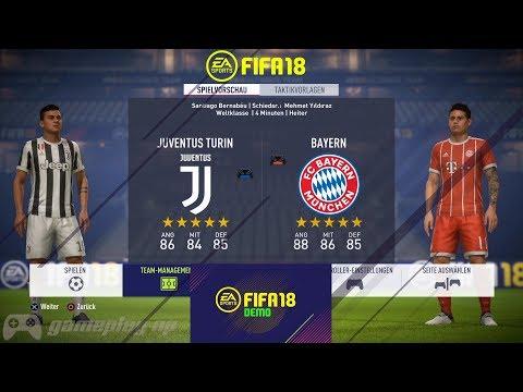 FIFA 18 Demo   Juventus vs Bayern Munich   Gameplay [ Ultra HD ]
