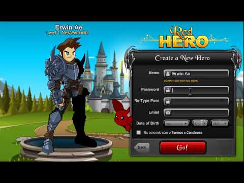 How to create Account In Redhero Aqw Private Server - YouTube