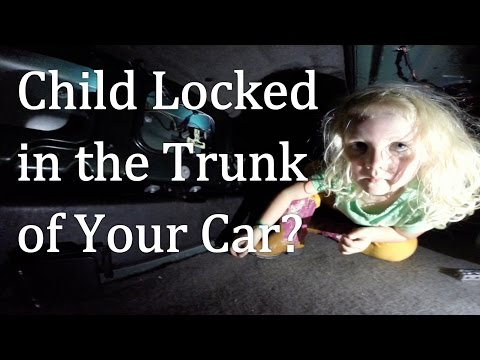 Does your child know what to do if they get locked in the trunk of a car?