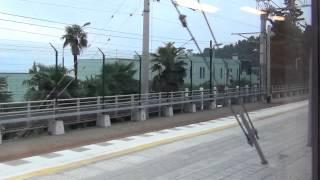 Адлер - Хоста - Мацеста из окна поезда