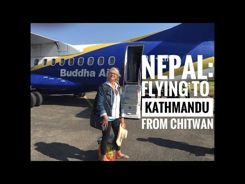 Nepal: Flying to Kathmandu from Chitwan