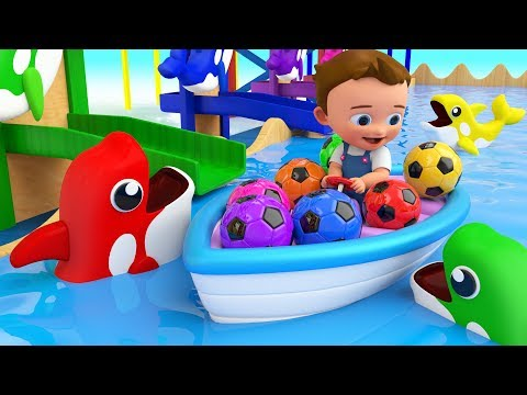 Colors for Children to Learning with Baby Fun Play with Color Balls Dolphin Slider Toy Set Kids Edu