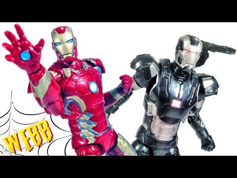 MARVEL LEGENDS Hulkbuster Avengers IRON MAN & WAR MACHINE Action Figure Review