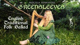 Priscilla Hernandez - Greensleeves (English Traditional Ballad) - Voice, harp and hammered dulcimer