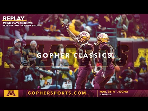 Watch Live: Gopher Football Defeats #5 Penn State 31-26 (Gopher Classics)