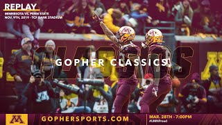 Watch Live: Gopher Football Defeats #5 Penn State 31-26 (Gopher Classics)