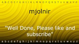 here i will show you how to say mjolnir with zira mp4