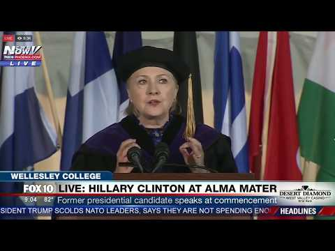 Hillary Clinton Jokes About Pizzagate At Wellesley College