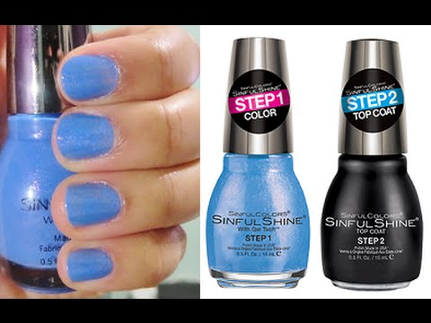 sinful colors sinful shine with gel tech nail polish top coat review youtube. Black Bedroom Furniture Sets. Home Design Ideas