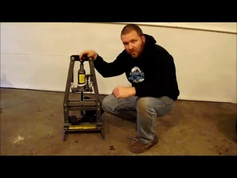 Harbor Freight 6 ton A-Frame Bench Shop Press First use
