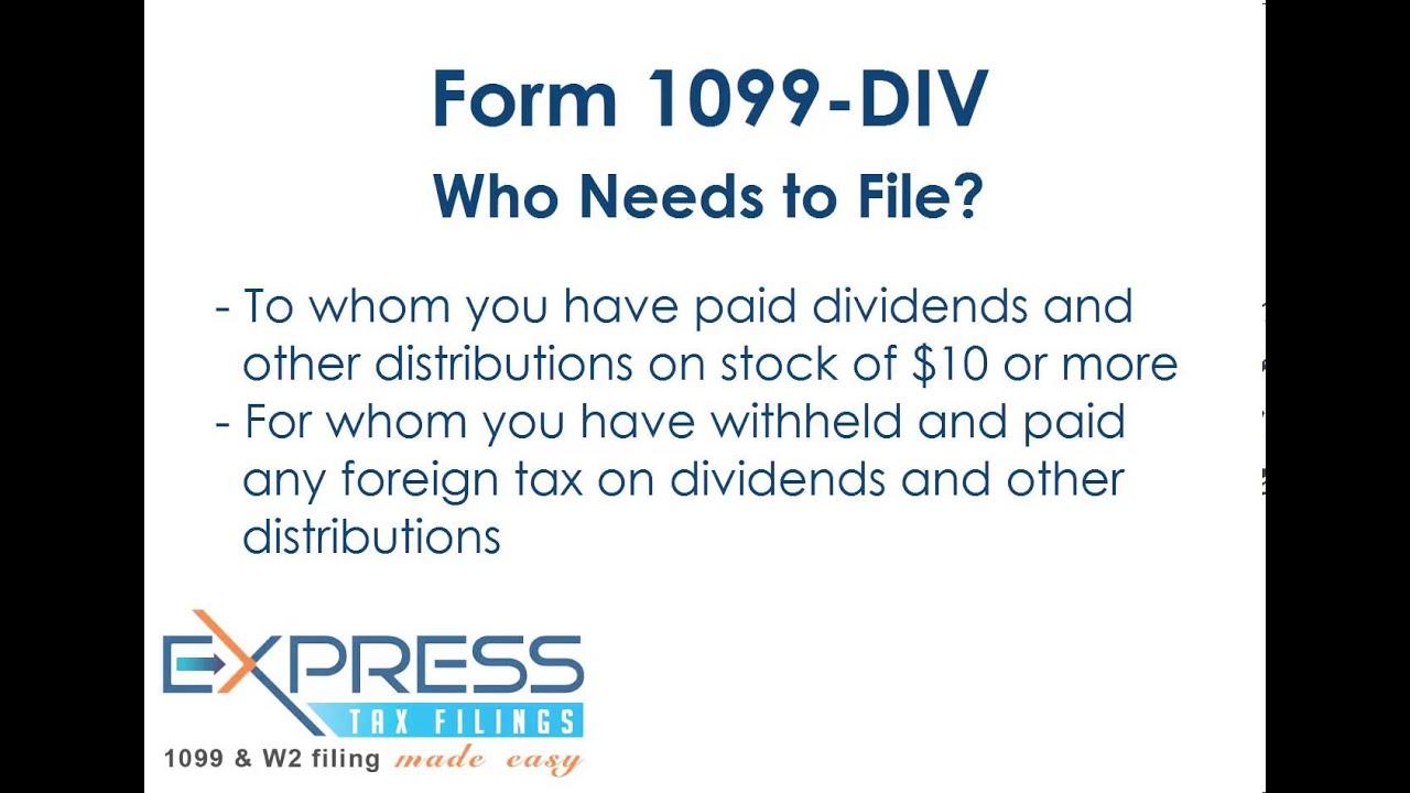Form 1099 Div Youtube