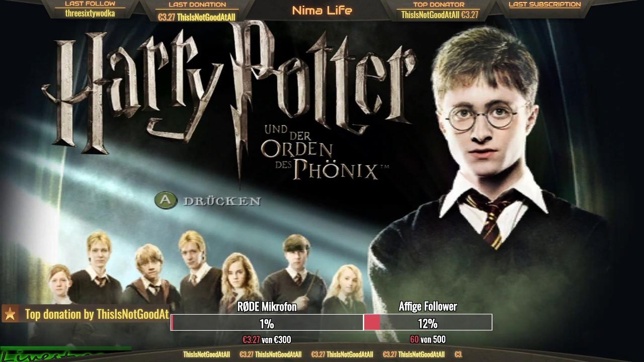 Harry Potter Und Der Orden Des Phonix Nimas Nachtstream Ab 23 30 Uhr Am 04 01 Part 001 Youtube