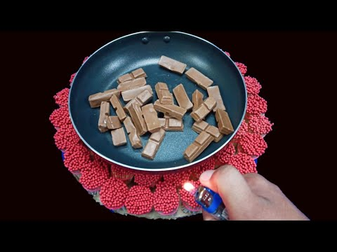 EXPERIMENT MATCH vs chocolate |melting chocolate experiment |chocolate experiment