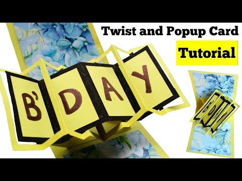 How to make Twist and Pop up Card | Handmade Friendship Day Card Tutorial | Pop up Birthday Card |