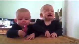 İkiz Bebekler Komik Kavga