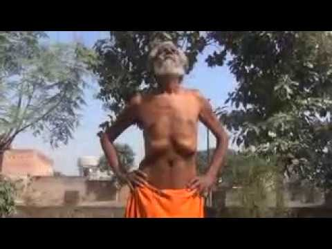 Shyam sadhu Indian Enviromental, Animal and Social Activist doing Yoga, Neevlee Kriya