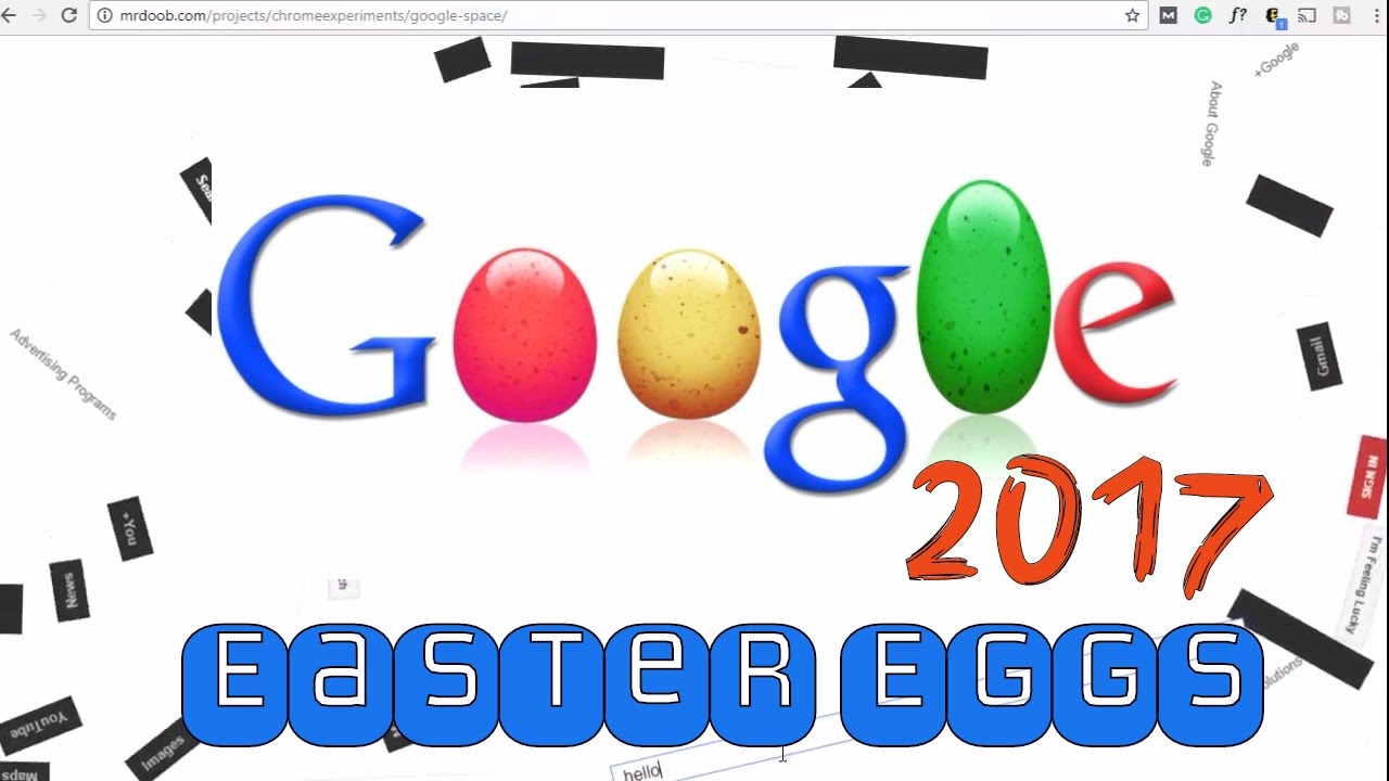 Fun Google Easter Eggs Working in 2017 - The Secret Google Hacks You Should  Know