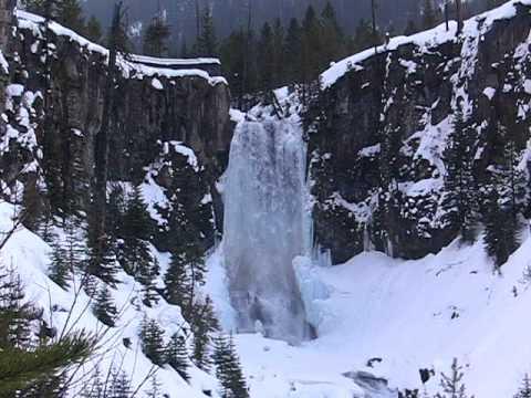 Tumalo Falls in Winter - Bend, Oregon