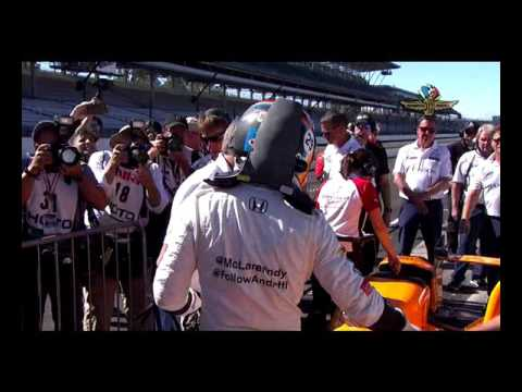 Fernando Alonso 2017 Indy 500 Qualifying run and interview