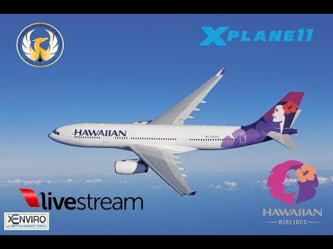 X-Plane 11 | A330 / B407| VATSIM | PHNL-NFFN( FIJI )