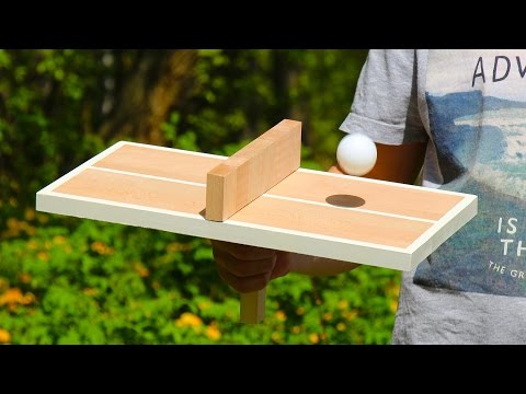 Thumbnail: DIY Ping Pong Table Tennis Game for One Person