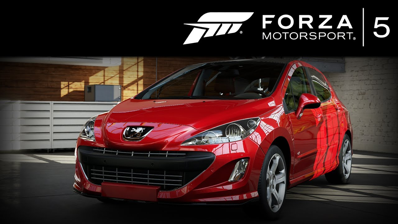 forza 5 peugeot 308 gti 2011 forzavista 1 lap youtube. Black Bedroom Furniture Sets. Home Design Ideas