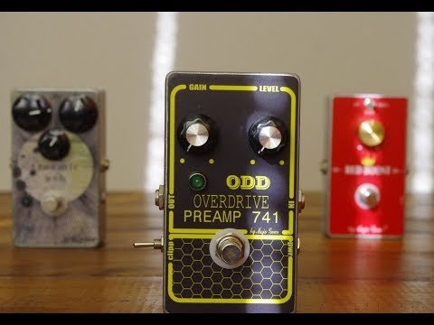 ODD OVERDRIVE PREAMP 741 By Mojo Gear with boost function ( VINTAGE GRAY DOD 250 CLONE )