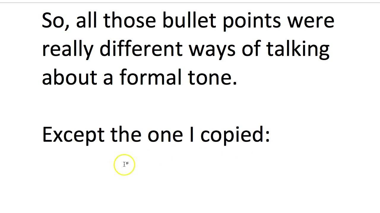 AQA GCSE English (A)- Media section, can you write in bullet points?
