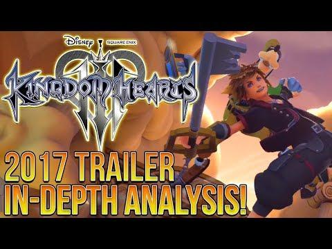 KINGDOM HEARTS 3 2017 TRAILER IN-DEPTH ANALYSIS!