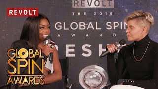 Dreezy pays her respects to Timbaland | Global Spin Awards
