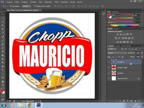 Como Criar Rotulo De Cerveja Personalizado No Photoshop Youtube