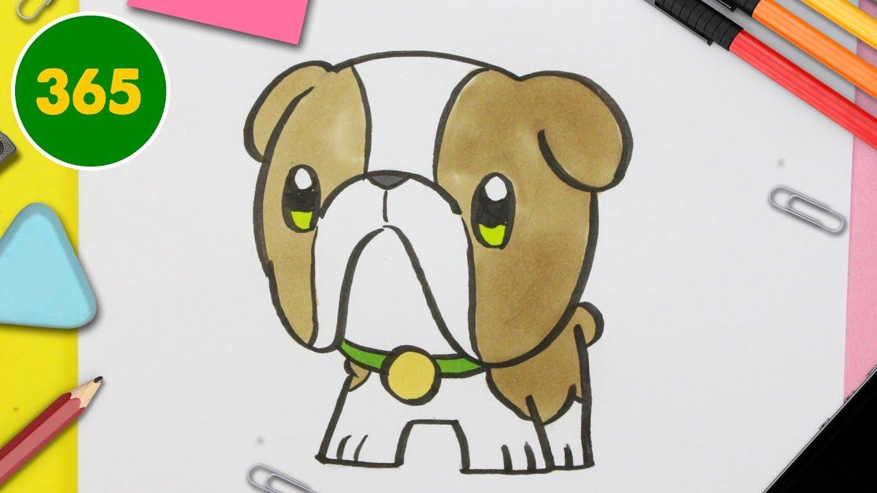 Comment Dessiner Un Chien Bulldog Kawaii Comment Dessiner Un Chiot Très Kawaii
