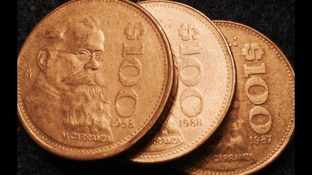 1987 1988 Mexico 100 Pesos