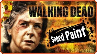 The Walking dead | Carol #TWD Digital art in Photoshop | SpeedPaint