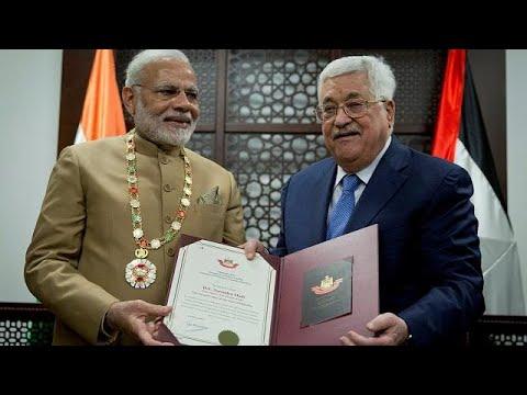 Narendra Modi besucht Mahmud Abbas in Ramallah