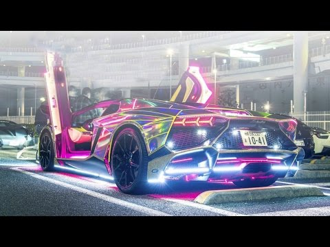 Top Gear Review Joker\u0027s lamborghini in Suicide Squad from Japanese neon  lights car culture Tokyo