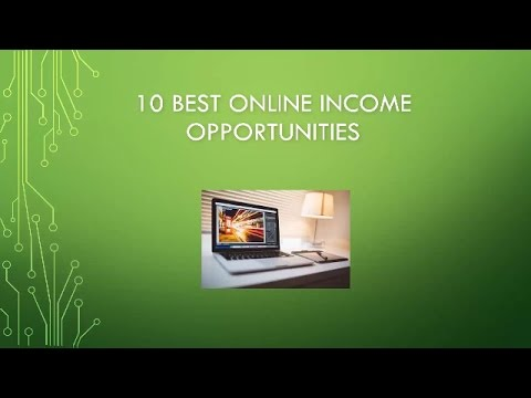 Top 10 Online Income Opportunities