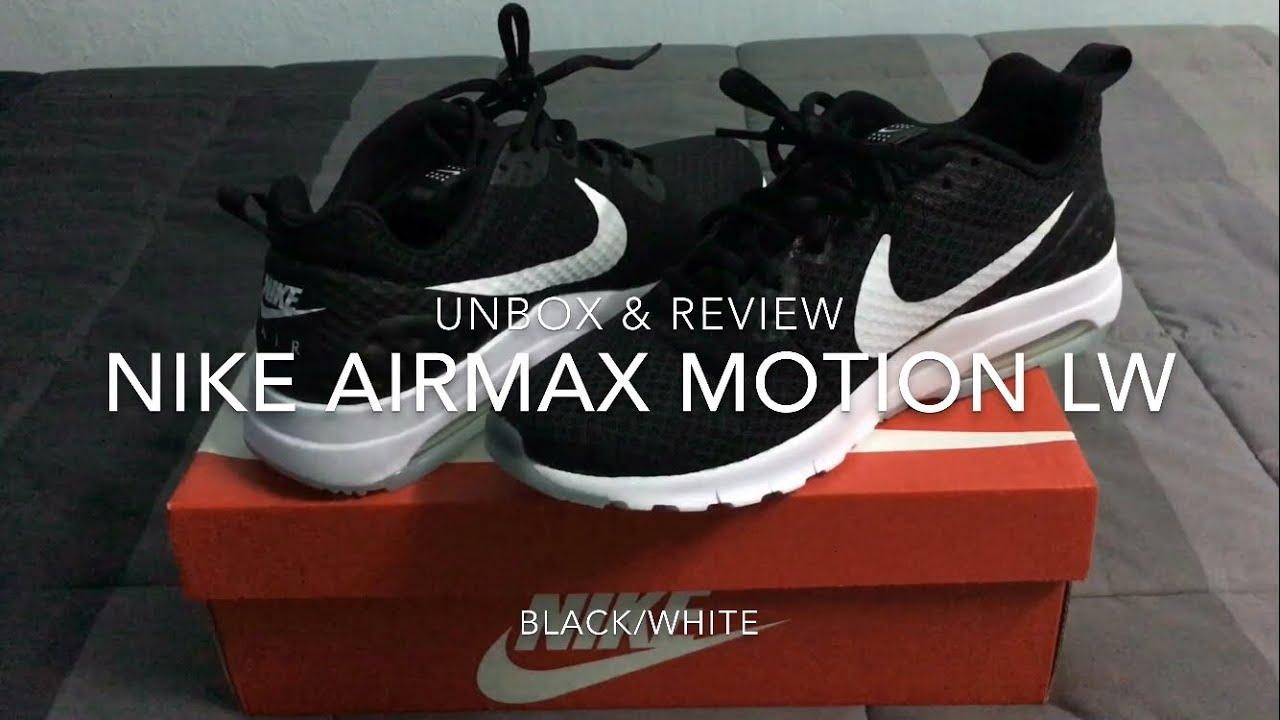 promo code 9cf34 4bc92 แกะกล่องและรีวิว Nike air max motion lw รองเท้าลำลองที่โครตคูล  เท่สไตล์ขาวดำ สั่งจาก Looksi