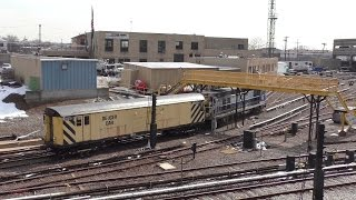 NYC Subway HD 60FPS: De-Icer Car RD341 & R156 OL928 @ Pitkin Yard & 80th Street (3/21/17)