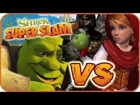 Shrek Super Slam Gameplay Gamecube Pc Ps2 Xbox Red Riding Hood X2 Vs Black Knight Youtube