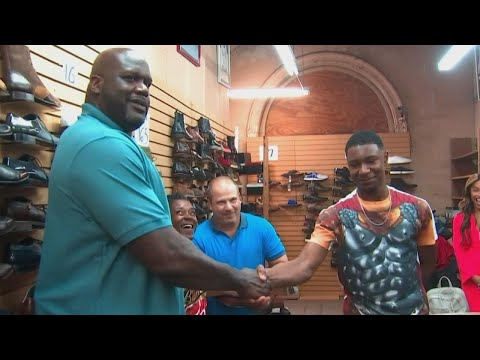 Watch Shaq Gift a Teen 10 Pairs of Size 18 Sneakers