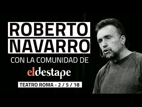 Roberto Navarro con la comunidad de El Destape