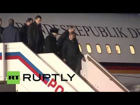 Russia: Merkel arrives in Moscow ahead of meeting with Putin