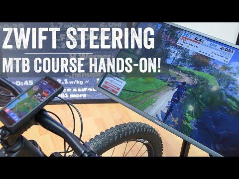 Zwift Demonstrates Mountain Biking & Steering at Eurobike