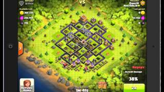 Clash of Clans: Hog Rider and Healing Spell Raid #1