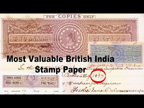 Mostly Valuable British India Antique Stamp Paper : Make you Rich