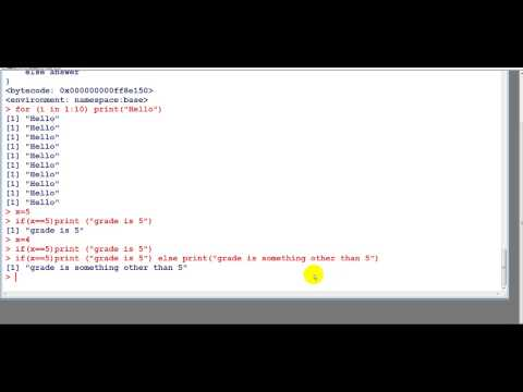 R programming Chapter 5 part 13 if else