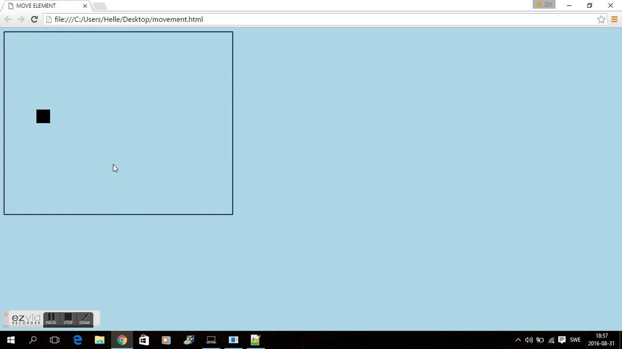 JAVASCRIPT - MOVE RECTANGLE ON CANVAS
