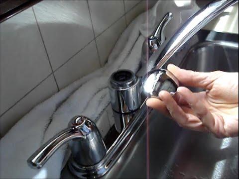 Two Handle Kitchen Faucet Repair - Moen - YouTube